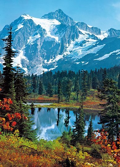 Fototapet mountain peak