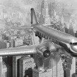 Fototoapet Airplane vintage - panorama