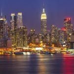 Fototapet Manhattan at night