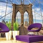 Interior Fototapet on Brooklyn Bridge