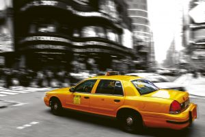 Fototapet New York City Taxi 3D