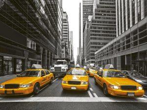 Fototapet Yellow Cabs New Yrok