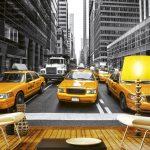 Interior Fototapet Yellow Cabs New Yrok