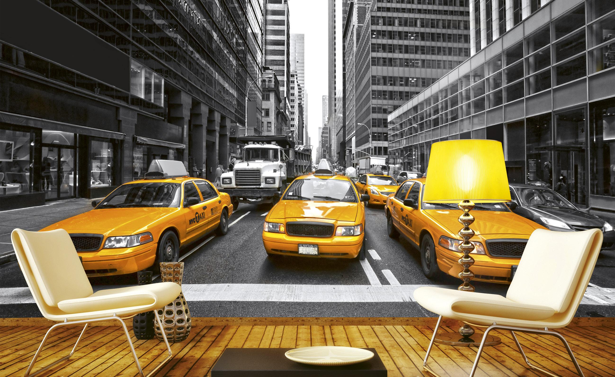 Fototapet Yellow Cabs