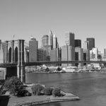 Fototapet Brooklyn Bridge BW